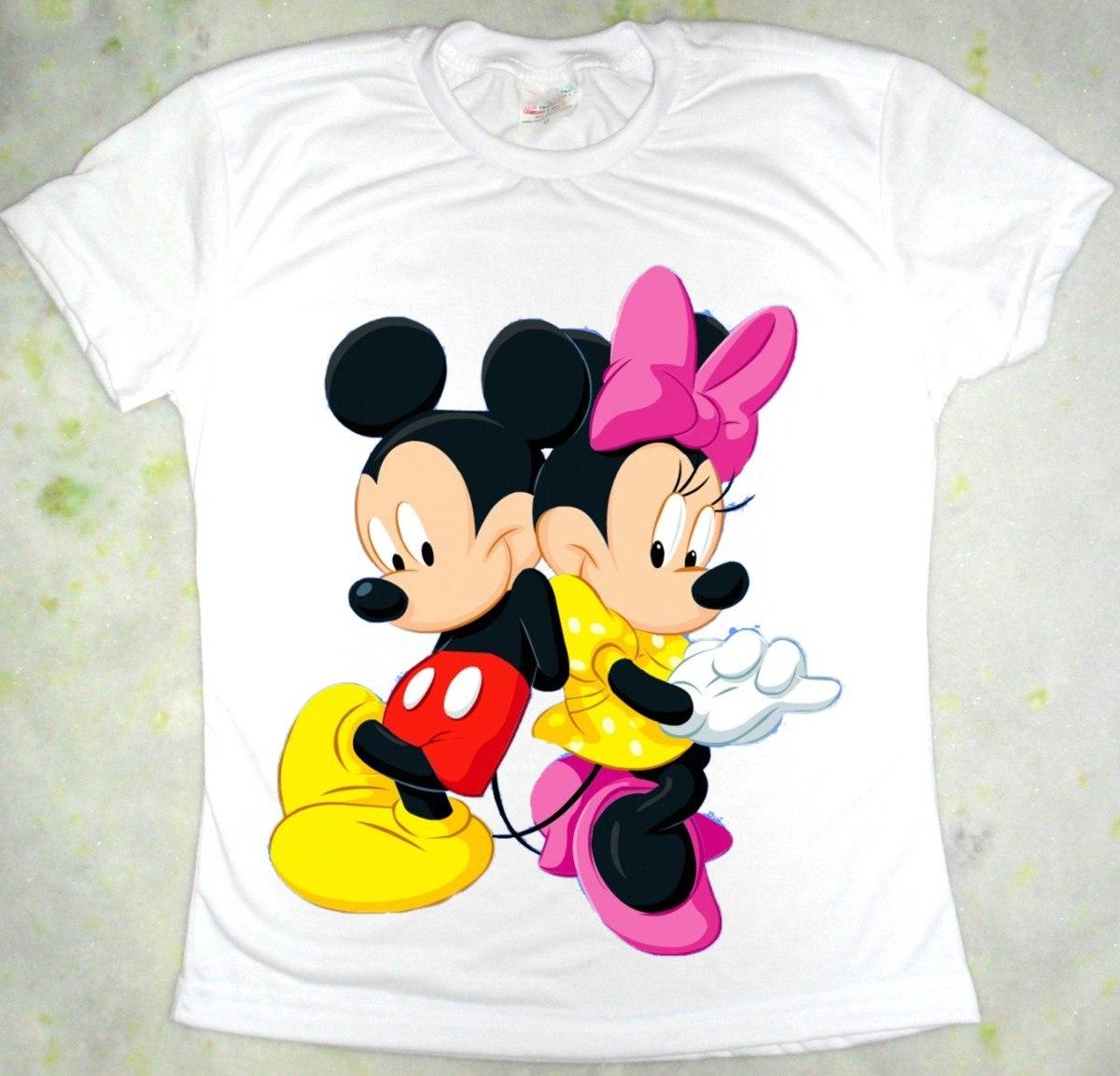 Camiseta Minnie E Mick...