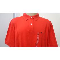 Camisa Polo Tommy Hilfiger Tam Gg Cor Vermelho Original