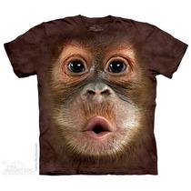 Camisa 3d Big Face Baby Orangutan The Mountain Original