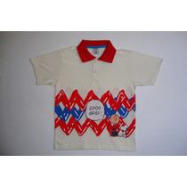 Camiseta Polo Em Malha Marca Elian