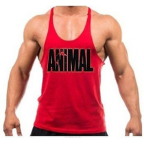 Kit Com 5 Camiseta Regata Super Cavada Animal Pak Musculação