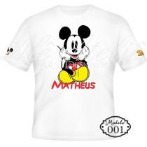 Camisa Camiseta Blusa Personalizada Disney Mickey Mouse