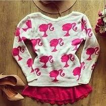 Blusa Tricot Feminino Barbie