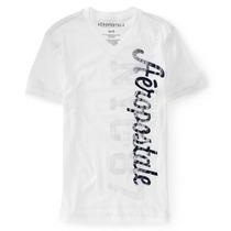 Camiseta Gola V Branca Aeropostale Modelo 6832 Original Usa