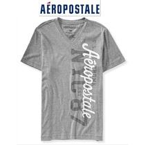 Camiseta Gola V Cinza Aeropostale Modelo 6832 Original Usa