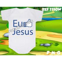 Body Infantil Eu Curto Jesus Personalizado Evangélico Gospel