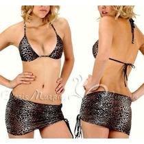 Conjunto De Micro Saia E Top De Oncinha Bikini Sexy