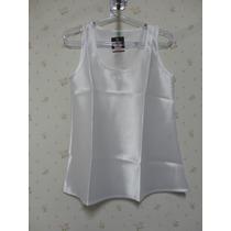 Blusa De Cetim Branca - Blusinha Feminina - Regata