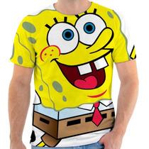 Camiseta Bob Esponja Estampada, Masculina E Feminina