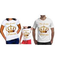 Camiseta - Camisa - Blusa Personalizada Coroas A4 / 3 Peças