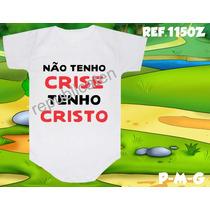 Body Infantil Tenho Cristo Personalizado Evangélico Gospel