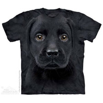 Camiseta Labrador Preto Filhote Face The Mountain Original