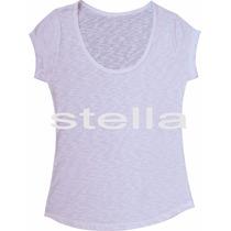 T-shirt Feminina Flamê Branca Lisa 100%poliéster Sublimação