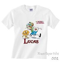 Camiseta Infantil Hora De Aventura Adventure Time