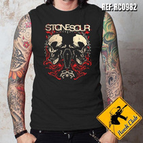 Camiseta De Banda Sem Manga- Stone Sour - Ref.0982