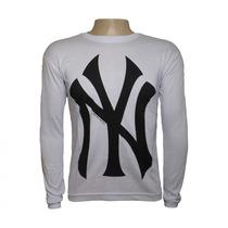 Camisa Manga Longa New York Importada Usa