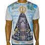 Camiseta Religiosa Catolica Novena Aparecida Mosaico
