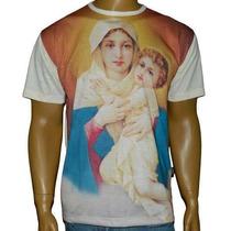 Camiseta Mãe Rainha Religiosa Católica