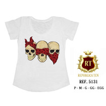 Camiseta Caveiras, Rock Roll, One Direction, Animal, Óculos