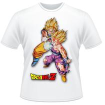 Camiseta Infantil Dragon Ball Z Goku Gohan Anime Desenho