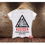 Camiseta Feminina Engraçada Perigo Explosão Raiva Placa