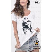 Camiseta T-shirt Britney Fashion Feminino Blusa Baby Look