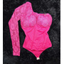 Body Redutor Mooah Mula Manca Renda Pink!!