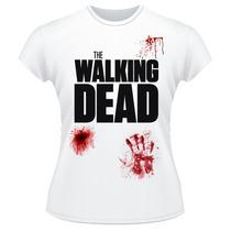 Baby Look The Walking Dead Série Amc Sangue Feminina