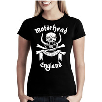 Camiseta Motorhead Baby Look Feminina Bandas Rock