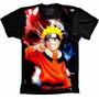 Camisa Naruto Manga Curta Masculina Feminina Personalizada