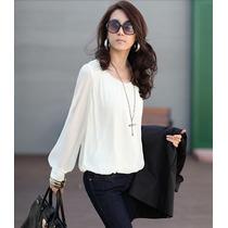 Blusa Camisa Feminina Chiffon - Pronta Entrega