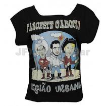 Camisa Feminina Gola Canoa Rock Banda Legiao Urbana Faroeste
