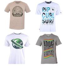 Kit 10 Camisetas Original - Quiksilver Hurley Volcom Lacoste