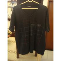 Tubbo Blusa Camiseta Camisa Preta Tam. G Gola V Algodão