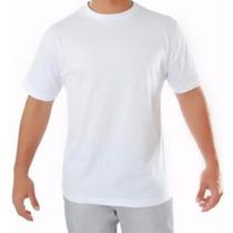 Camiseta Lisa Branca 100% Algodão - Fio 30.1