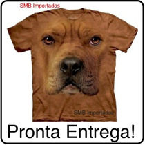 Camiseta Cão Cachorro Pitbull Face Importada - The Mountain