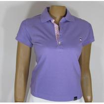 Blusa Baby Look, Golfe Referência 193, Tamanho Gg, Lilás.