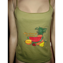 Blusa C/ Estampa De Frutas Tam M