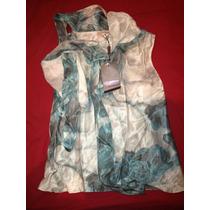 Blusa Estampada Em Azul Lita Mortari Tam 38 Nova Com Etiquet