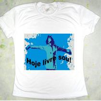 Camiseta Evangélica Hoje Livre Sou Cristã - Vários Modelos