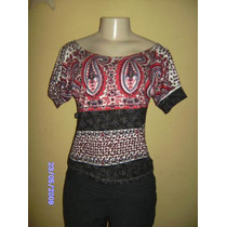 Bn008 - Blusa Estampada Manguinha Manequim U