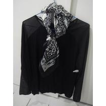 Blusa Preta Cortelle Linda + Bolsa De Mão Corello - R$ 99,90