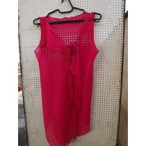 Blusa Cavada Modelo Evasê De Musseline Rosa Escuro Bordada