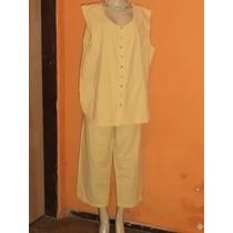 Conjunto Calça E Blusa ,algodão, Tamanho G 4 -