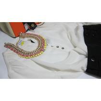 Blusa Tunica Bata Crepe Branca Marca Inglesa Wardrobe Bl095