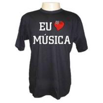 Camisetas Divertidas Panico Eu Amo Musica Bandas Rock Dj
