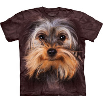 Camiseta Cão Cachorro Yorkshire Face Importada- The Mountain