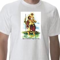 Camiseta Branca Personalizada Com Foto, Frases, Santos Re...