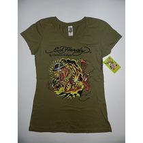 Camiseta Feminina Don Ed Hardy By Christian Audigier - Tam M