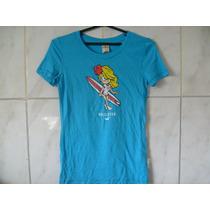Camiseta Hollister Feminina Tamanho M 60cm X 40cm X 38cm